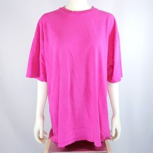 Blank Hot Pink Hanes Beefy-T